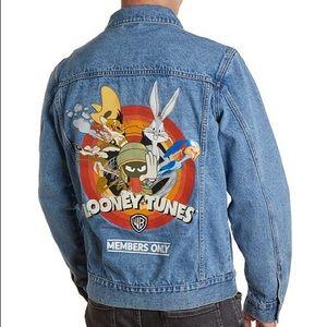 Member's Only Men's Looney Tunes Denim Trucker